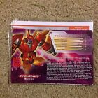 Transformers TFCC Club Shattered Glass Cyclonus Card & Instructions Only