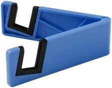 Universal Mobile Tablet Smart Phone Slim Stand Holder Plastic Foldable Blue