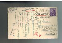 1943 Tabor B&M to Dresden Germany Prison Postcard Cover Josef Macoun