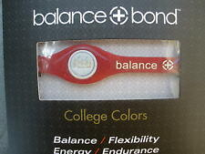 Balance + Bond Bracelet Band College Colors RED Silicone Ionic Energy XSmall