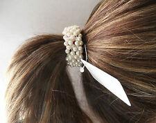 1 Perlenzopfring Blumenmädchen Blumenkind Hochzeit Kommunion Haargummi Zopfgummi