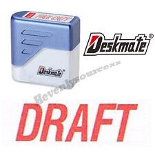 { DRAFT } Deskmate Red Pre-Inked Self-Inking Rubber Stamp #KE-D02A