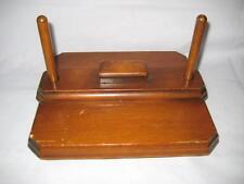 "Rare Antique / Vintage Handmade Wood Footed Napkin Press / Holder ~ 9"" X 8"" X 5"""