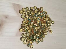 Crystal Rhinestone Gold Plated Spacer Beads Findings 170 pcs new multicolor mix