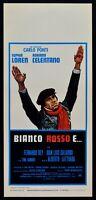 Plakat Weiß Rot E Adriano Celentano Sophia Loren Alberto Lattuada L100