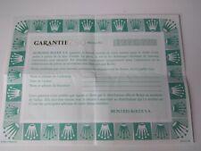 ROLEX Certificate Garantie Warranty WATCHES Garantia OYSTER PERPETUAL GUARANTEE