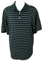 TOMMY HILFIGER GOLF Short Sleeve Polo Shirt ~ Men's XXL / Black White Stripe
