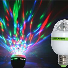 3W Bulb Stage Disco Party Bulb Lamp Auto RGB Crystal Ball Rotating LED Light NEW