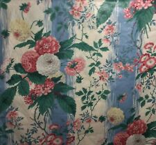 Waverly Augustine Fabric Brandywine Dupont Floral Chintz Blue Pink 7.5 yards +