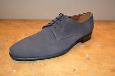 A.testoni Men's Grey Textured Suede Leather Oxfords Size 11.5