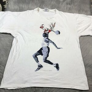 Vintage Mens Nike USA Made Single Stitch Hare Air Jordan Bugs Bunny T Shirt