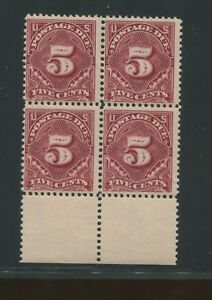 1895 Due Stamp #J41 Mint Never Hinged F/VF Block of 4 Certified