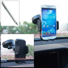 Car Windshield 360 Suction Cup Mount Holder+Stylus Pen for Samsung Phone/Mobile