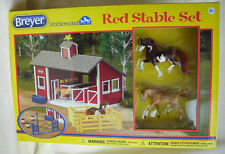 2014 Breyer Stablemates Red Stable Set with Two Horses and Accessories New