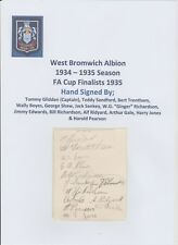 WEST BROMWICH ALBION 1934-1935 VERY RARE ORIG HAND SIGNED BOOK PAGE 13 X SIGS