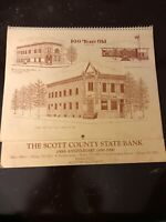 Indiana Vintage Wall Calendar The Scott County State Bank Anniversary 1890-1990