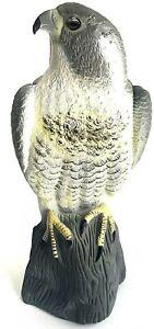 Bird Scarecrow Fake Horned Hawk Decoy,Bird Repellent Garden Protectors,