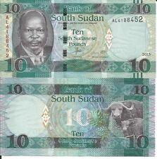 SOUTH SUDAN BILLETE 10 POUNDS 2015