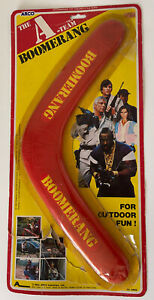 Rare 1983 Arco The A-Team Boomerang MOC Mr. T Vintage Rack Toy