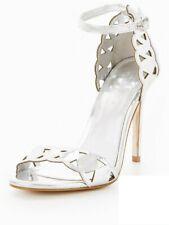 Silver Sandals Size 7 Michelle Keegan Lazer Cut