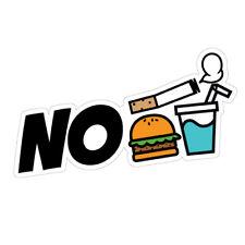 No Smoking Eating Drinking Icons JDM Sticker Decal Car #1453k