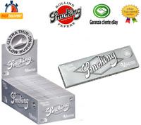 Smoking Master Regular Cartine Singole Argento Silver Corte Da 25 / 50 Libretti