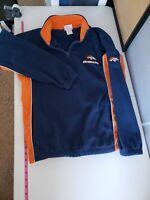 Vintage NFL Denver Broncos Fleece Pullover Medium Half Zip