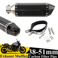 38-51mm Aluminio Motocicletas Tubo Escape Moto Amortiguador Embellecedor Durable