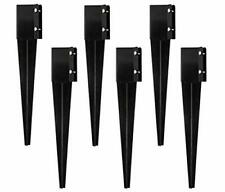 New listing Sekcen 6 Pcs Fence Post Anchor Ground Spike 4x4 Metal Post Stake 24 Inch for ...