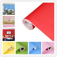 Plain Matte Wallpaper Rolls Vinyl Self Adhesive Contact Paper Wall Stickers
