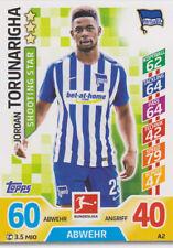 Match Attax A2 - Jordan Torunarigha - Hertha BSC - Saison 17/18