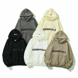 Womens Mens FEAR OF GOD ESSENTIALS Hoodie Couple Sweater FOG High Street Jacket