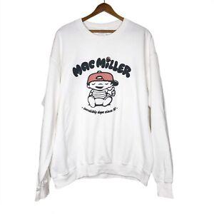 Mac Miller White Crewneck Sweatshirt Size Large