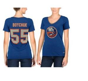 NHL CCM New York Islanders #55 Hockey Shirt New Womens Size SMALL