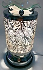 Electric Touch Fragrance Lamp/Oil Burner/Wax Warmer/Night Light With Leaf Design