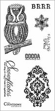 Fiskars Simple Stick Repositionable Rubber Stamps WINTER