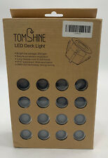 16 Pack LED Deck Light Kit, High Bright In Ground Outdoor Landscape Stainless