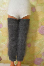 GAITERS Stockings Socks 100% goat down fuzzy soft leg warmers Mohair by D.Tolik