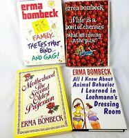 Erma Bombeck Lot 4 Hardcover Books Humor Motherhood Family All I know Cherries