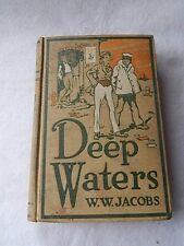 Vintage Deep Waters by W.W. Jacobs-1919 Scribner's 1st Ed.