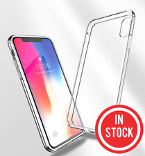 For iPhone XS Max/XS/XR/X/8 Shockproof TPU Bumper Clear Soft Back Case Cover