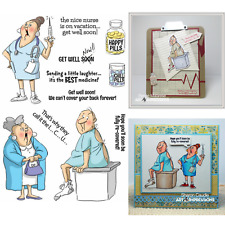 Art Impressions People Clear Rubber Stamps - Get Well