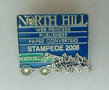 North Hill Stampede 2005 Chuckwagon Lapel Hat Souvenir Pin