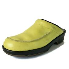 Sanita Danish Clogs Open Back Light Green Leather Slide Shoes Size 39 EU 8.5 US