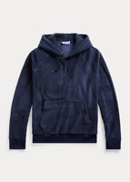 $795 Ralph Lauren Purple Label Navy Cashmere Fleece Hoodie Sweatshirt Sweater