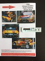 DECALS 1/43 CITROEN C4 WRC PETTER SOLBERG RALLYE ALSACE FRANCE 2010 RALLY