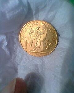 PIECE OR 20 FRANCS GENIE 1897
