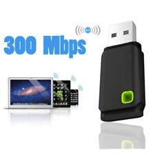 MINI USB 300Mbps WiFi sans fil Adaptateurs PC Ordinateur Portable Clé windows 10