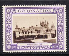 "GB  1937 Coronation ""Purple"" - Balmoral Castle -  Mint"