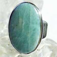 LARIMAR ATLANTIS 14 Ring ECHT 925 Silber Blue Unique Unikat